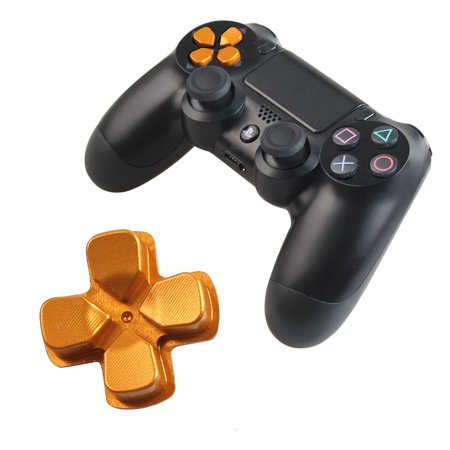 Chrome D-pad Bullet Buttons for Playstation 4 Aluminum Custom Metal Buttons Spare Parts Accessories -Gold - Custom Button