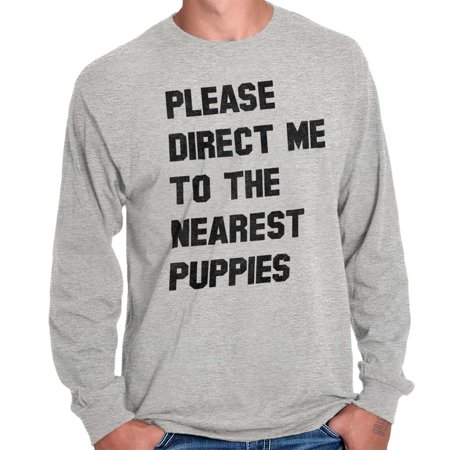 Brisco Brands Direct Me To Nearest Puppies Long Sleeve Tee Shirt Top - Nearest Party City Near Me