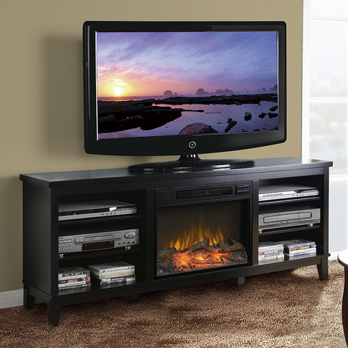 American Furniture Classics 66.5u0027u0027 TV Stand With Fireplace