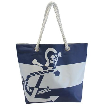 Luxury Divas Navy Blue & White Striped Anchor Printed Over Size ...