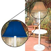 """Lamp w/ 18"""" Table for Indoor/Outdoor Use, White w/ Pacific Blue Shade"""