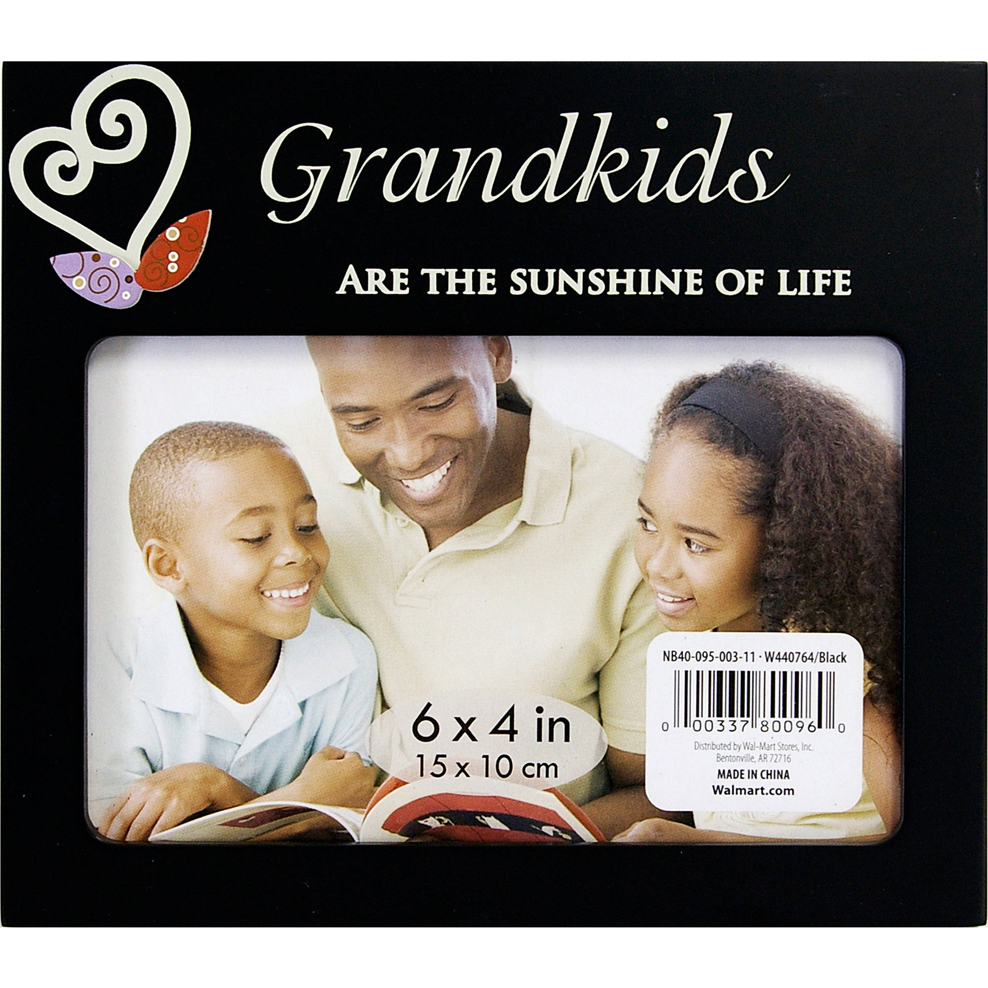 Expressions Grandkids Photo Frame, Black, Set of 2