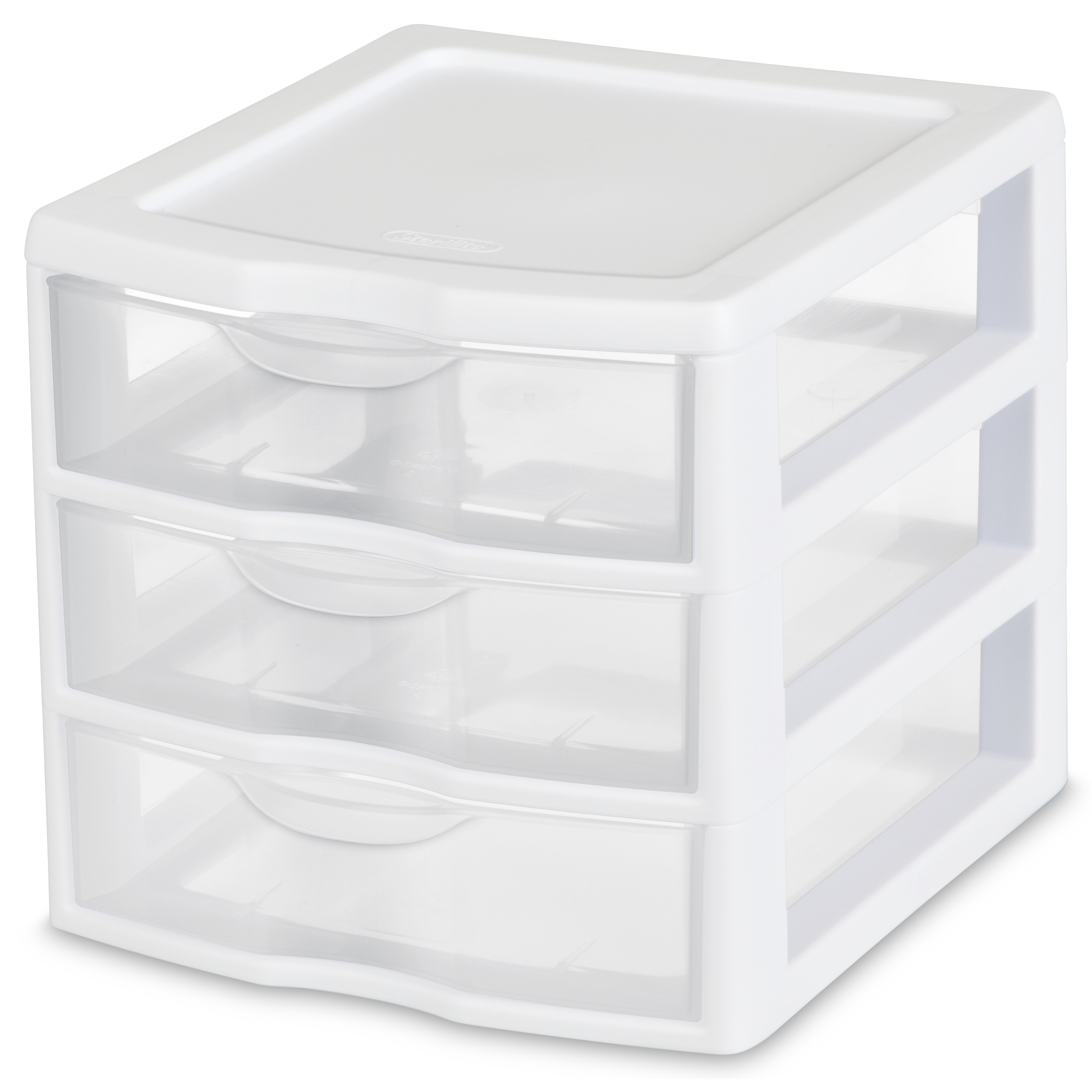 Sterilite Small  Drawer Unit White Available In Case Of  Or Single Unit