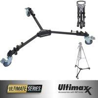 ULTIMAXX Professional Camera Tripod Dolly Folding Heavy Duty Wheels