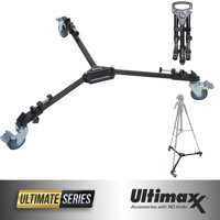 ULTIMAXX Professional Camera Tripod Dolly Folding Heavy Duty Wheels