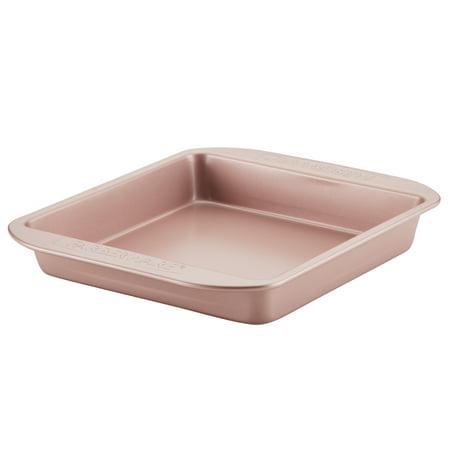 Farberware Nonstick Bakeware Square Cake Pan, 9-Inch, Rose Gold ()