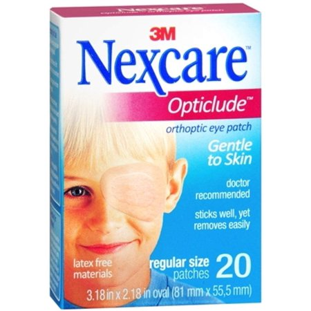 Nexcare Opticlude Orthoptic Eye Patches Regular 20 Each (Pack of 6) (Myi Occlusion Eye Patches)