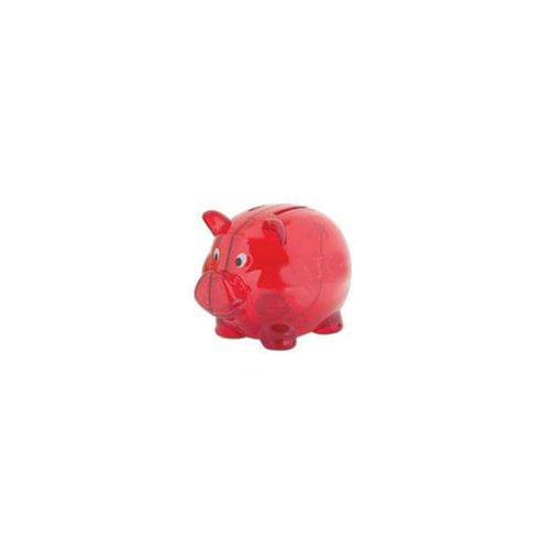 """DDI Red 4"""""""" Plastic Piggy Bank Case Pack 100"""