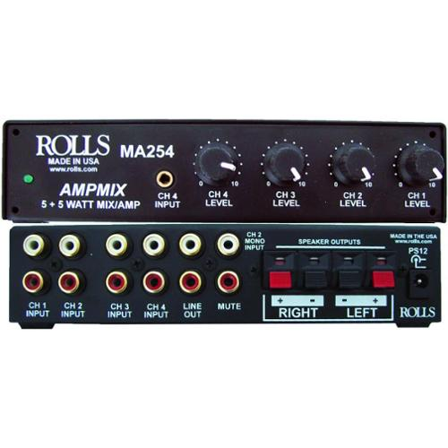 Rolls MA254 Stereo 5w Mixer Amp 4 Rca