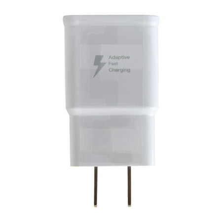Adaptive Fast Charger Kit Compatible with ZTE Axon Max Devices - [Wall Charger + 4 Feet USB C Cable] - AFC uses Dual voltages for up to 50% Faster Charging! - White - image 2 of 9