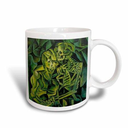 3dRose Kiss Of Death - cubism, halloween, death, bones, fear, green, horror, Ceramic Mug, 11-ounce - Islands Of Fear Halloween Horror Nights