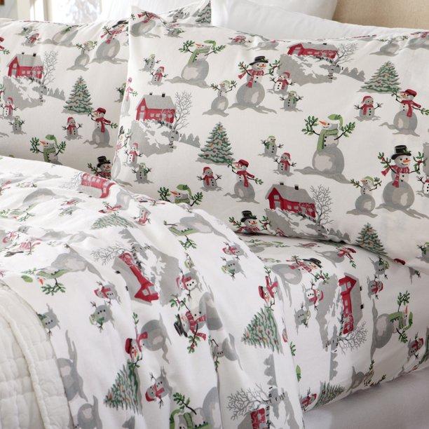 Home Fashion Designs Stratton Collection Extra Soft Printed 100 Turkish Cotton Flannel Sheet Set Warm Cozy Lightweight Luxury Winter Bed Sheets Brand Queen Winter Wonderland Walmart Com Walmart Com