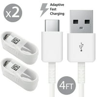 2 Pack Afflux USB Type C USB-C Fast Charging Cable USB-C 3.1 Data Sync Charger Cord For Samsung Galaxy S8 S8+ S9 S9+ Galaxy Note 8 9 Nexus 5X 6P OnePlus 3t 5 5t LG G5 G6 V20 V30 Google Pixel 2 2XL 4FT