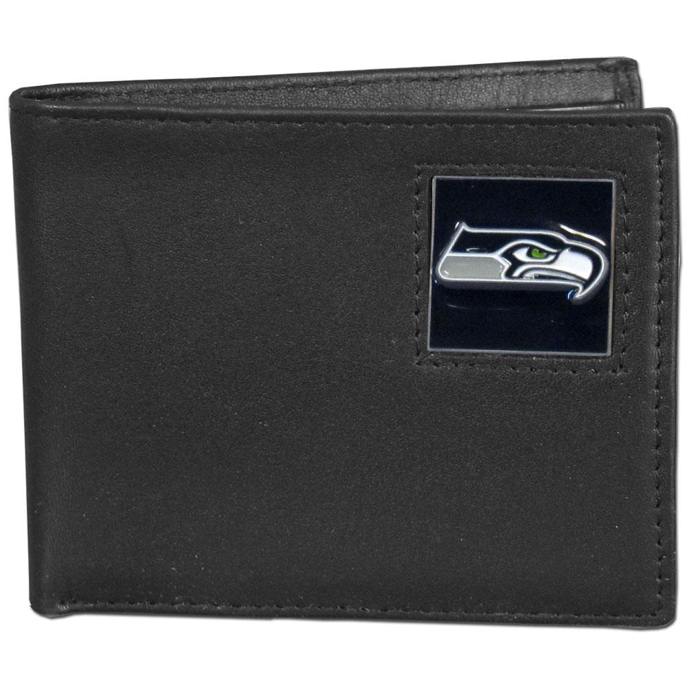 Seattle Seahawks Official NFL Bi fold Wallet in Tin by Siskiyou 391552
