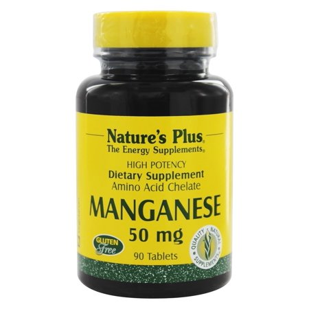 Nature's Plus - Manganese 50 mg. - 90 Tablets