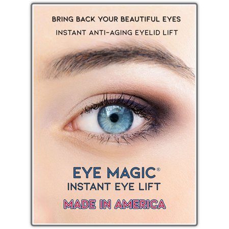 Eye Magic Premium Instant Eye Lift (Small/Medium) For Western Eyes - Made in America - Lifts and Defines Droopy, Sagging, Upper Eyelids (Droopy Eye Glasses)