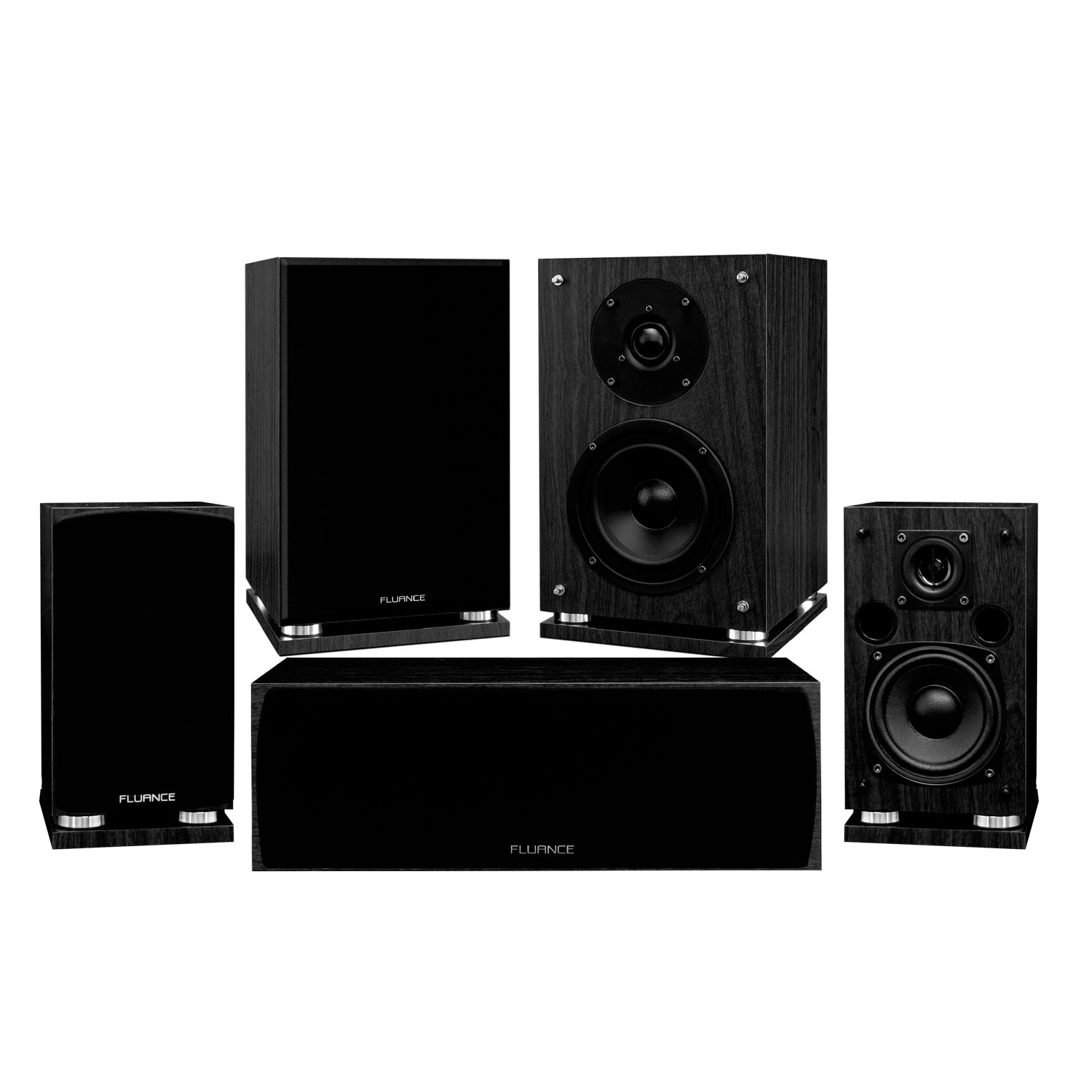 Fluance Elite Series Compact Surround Sound Home Theater 5.0 Channel Speaker System including Two-way... by Fluance