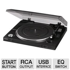 Sony Fully Automatic Stereo Turntable Plus 100ft Oxygen-Free Copper Speaker Wire ()