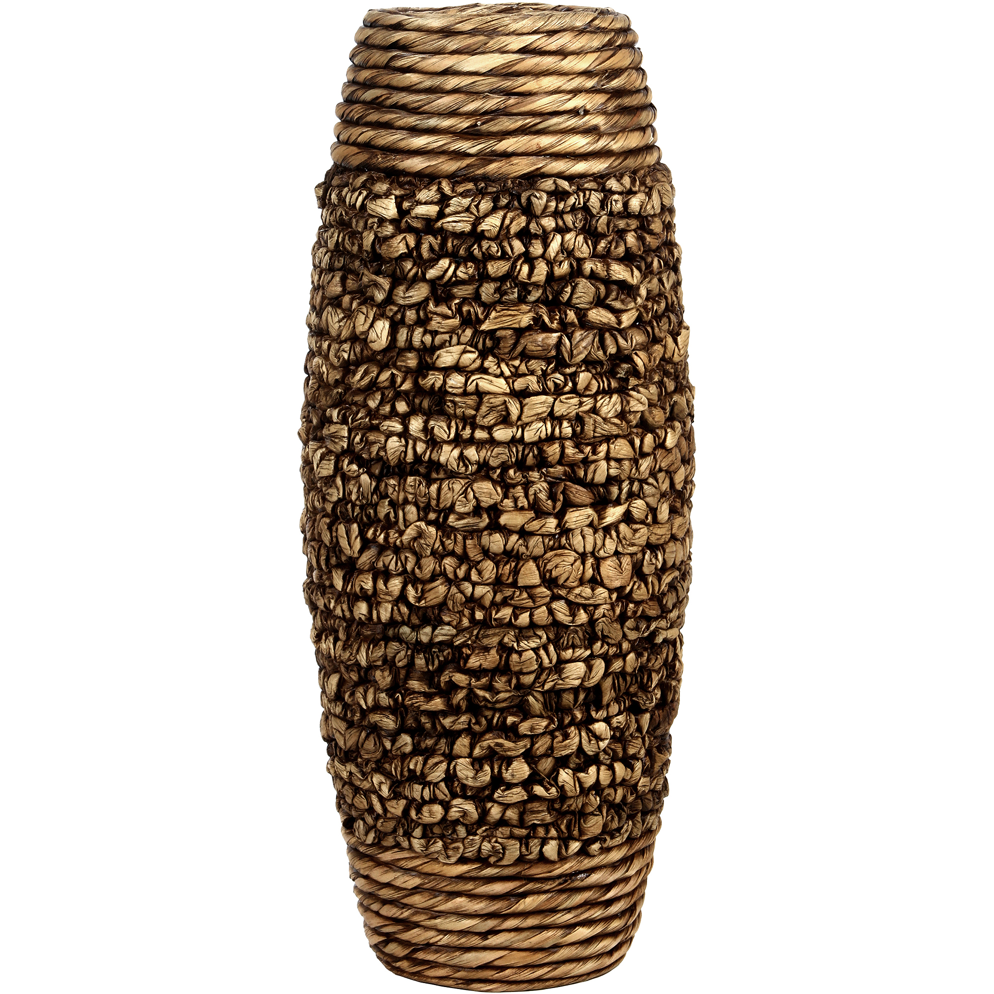 Hosley Water Hyacinth Vase, Brown