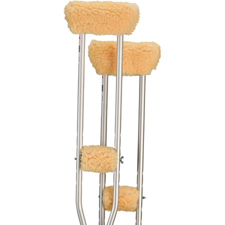Underarm Crutch Cushion - NOVA Sheepskin Underarm and Hand Grip Cover Set, Cushion Pad Fleece Accessories for Underarm Crutches, One Pair Each of Underarm and Hand Grip.., By NOVA Medical Products