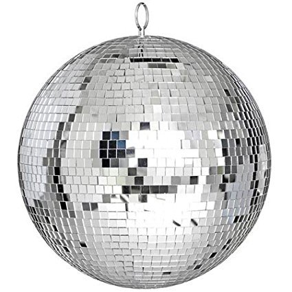 "12"" Mirror Disco Ball Great for a Party or Dj Light Effect, 12 Bright Reflective Mirror Ball Kit, the Same Exact Type Used in Night Clubs! By 999 Mega USA From USA"