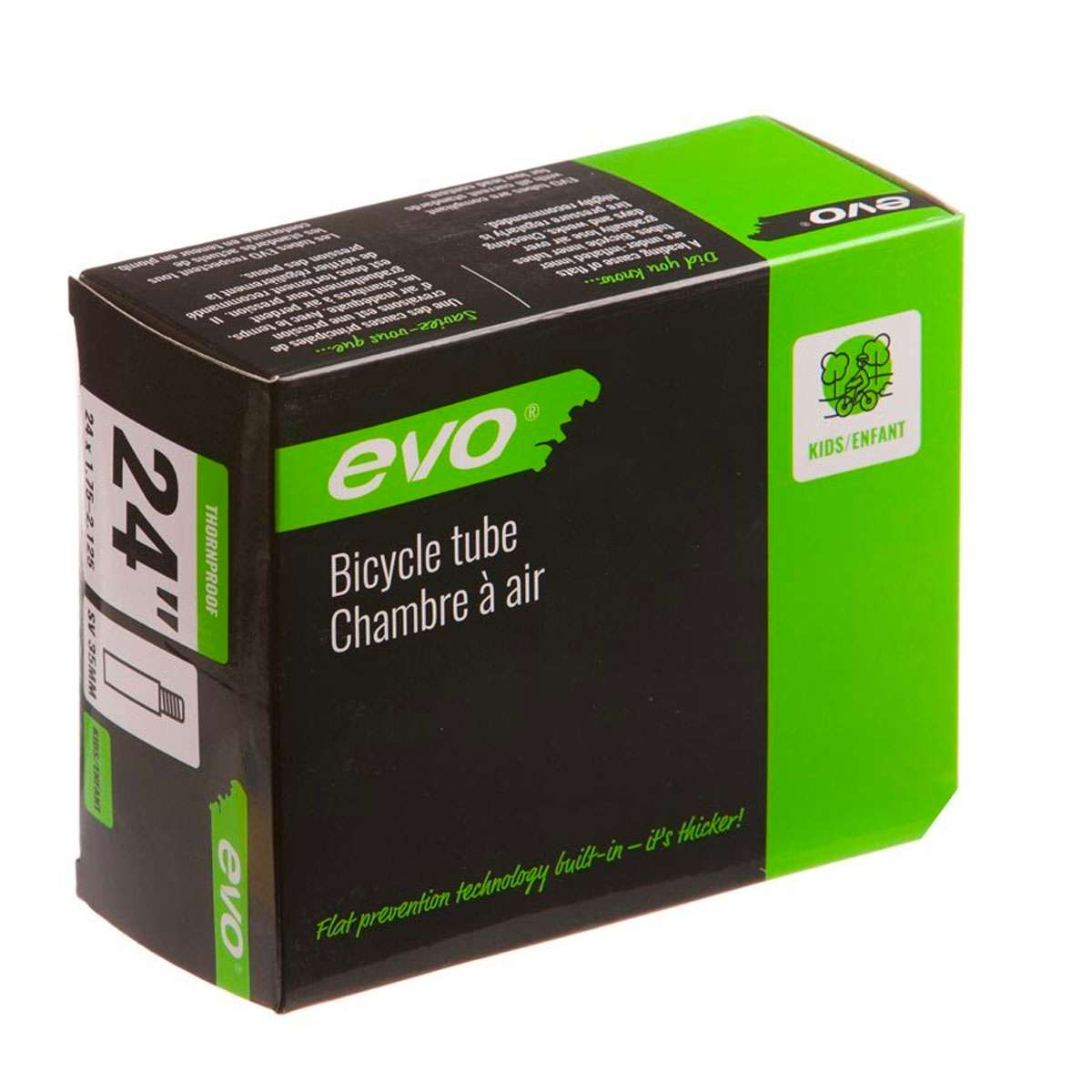 Evo Thorn Resistant Schrader Valve Bicycle Tube - 24in x 1.75-2.125 - 35mm - 20174-02
