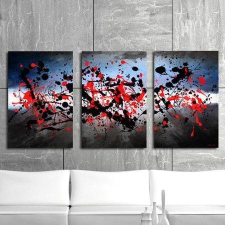 08eb6e2b251c Maxwell Dickson Beautiful Mind 3 Piece Graphic Art on Canvas Set -  Walmart.com
