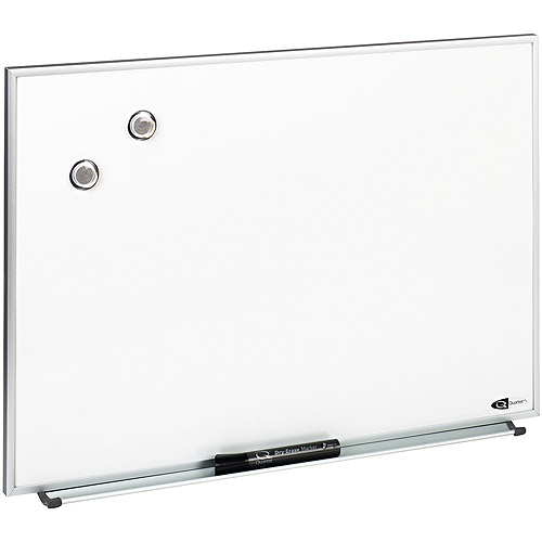 "Quartet Magnetic Dry Erase Board, Painted Steel, 23"" x 16"", White Aluminum Frame"