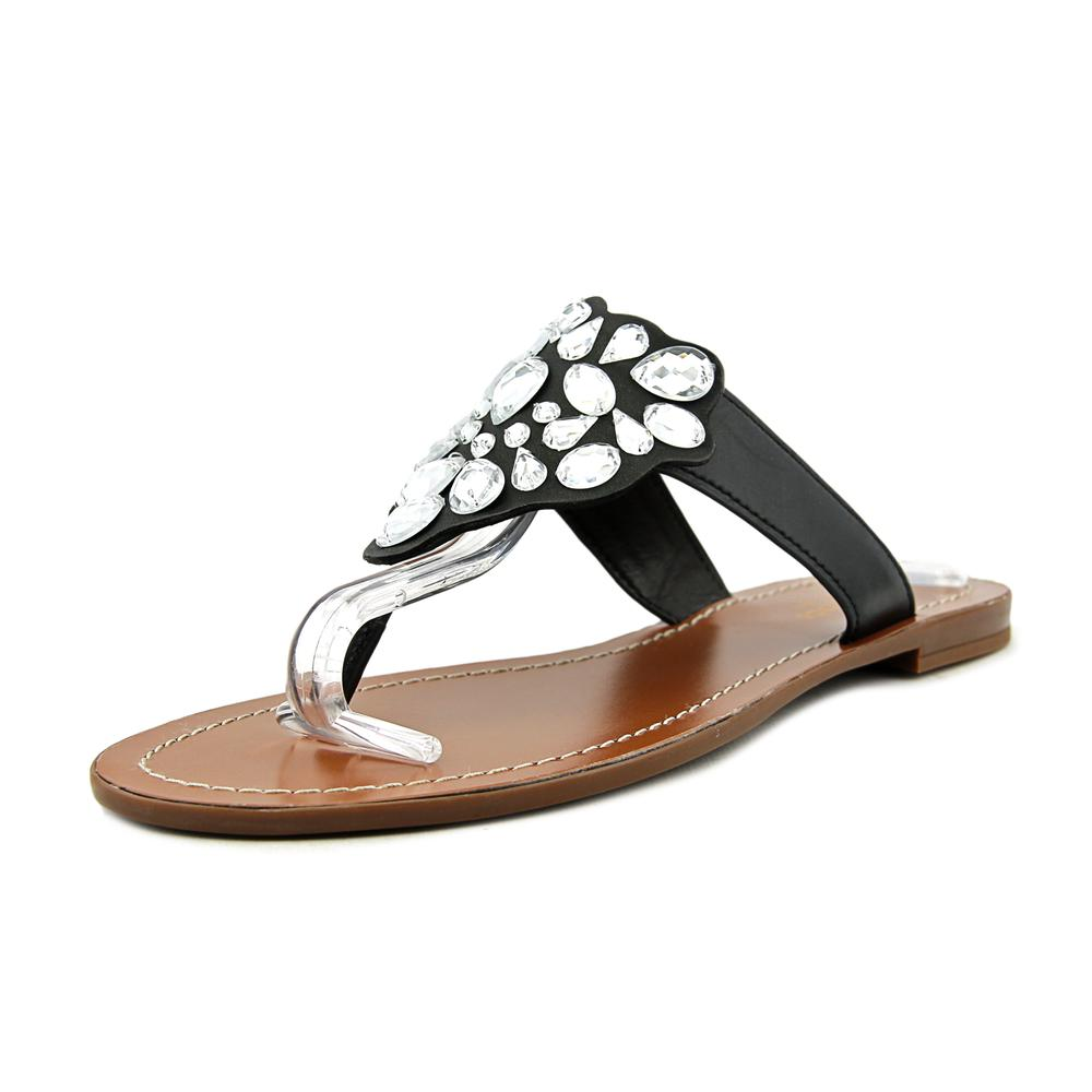 Kate Spade Cora Women Open Toe Canvas Black Thong Sandal by kate spade
