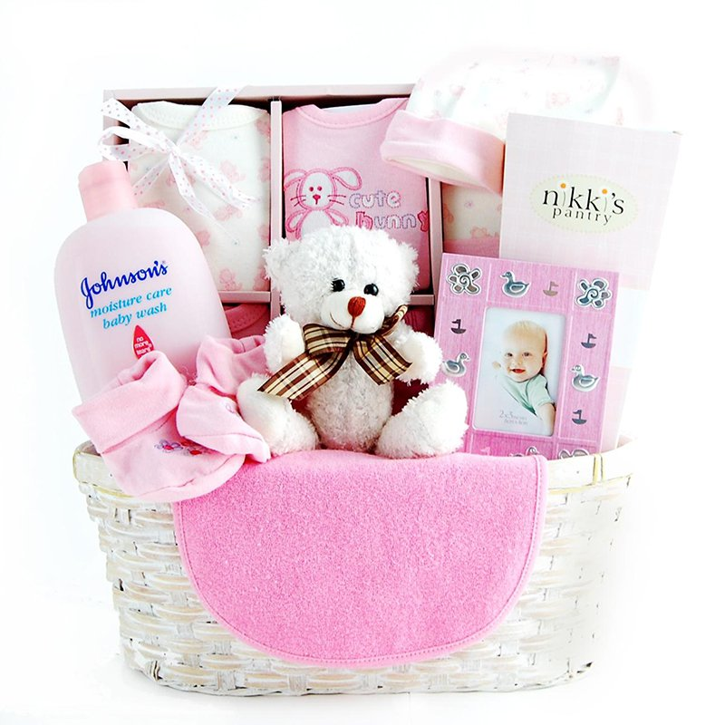New Arrival Gift Basket - Pink