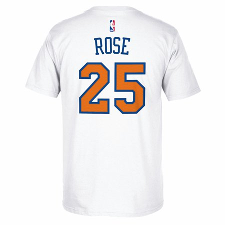 derrick rose white knicks jersey