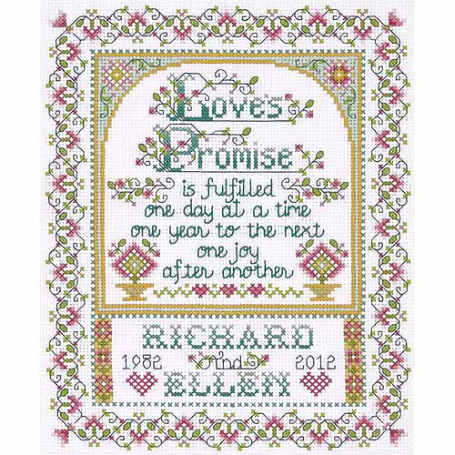 Design Works Counted Cross-Stitch Kit, Love Promise