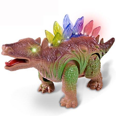 Light Up Dinosaur Electronic Walking Robot Roaring Interactive Dino Toy - Walking Roaring Dinosaur Toy