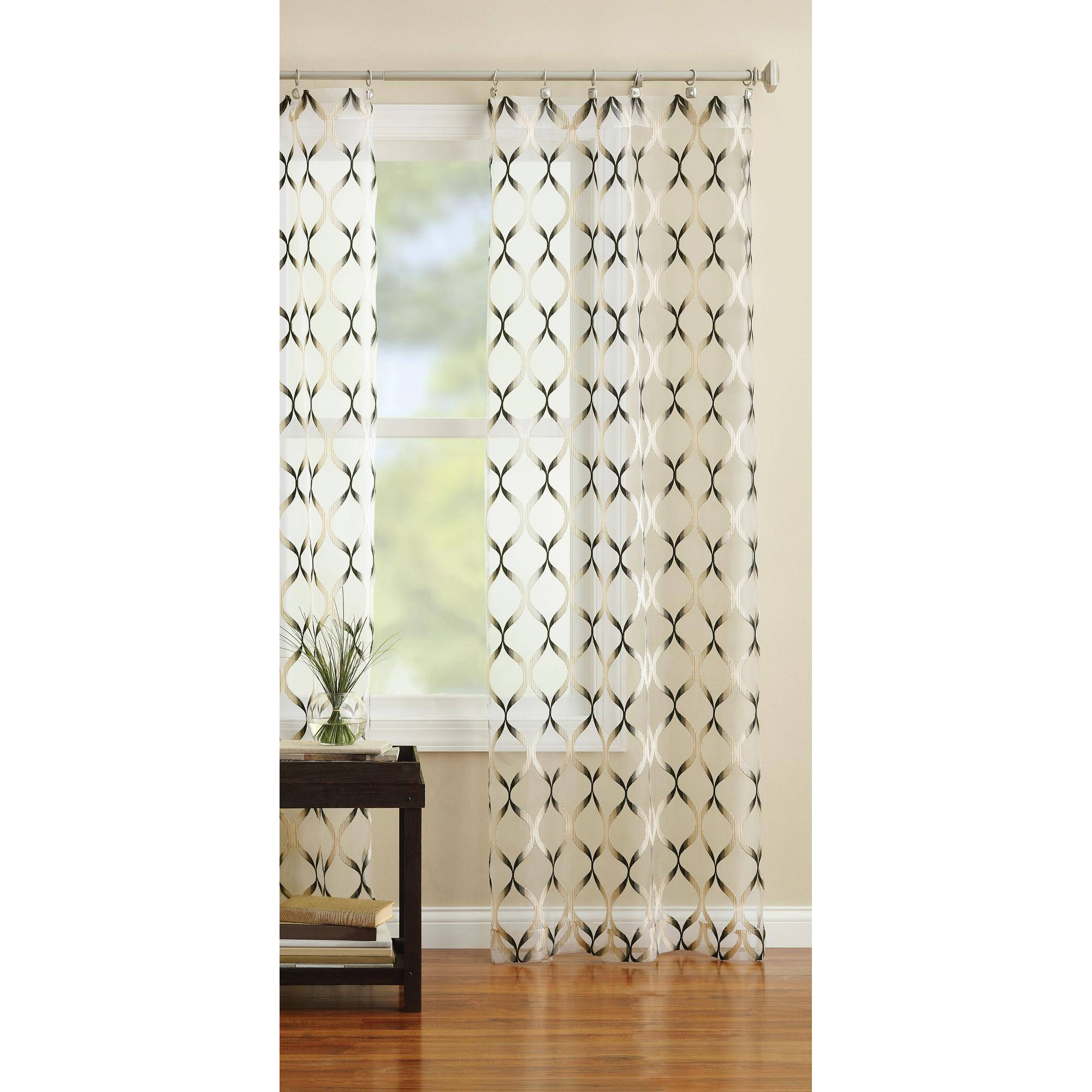 Better Homes and Gardens Flame Curtain Panel