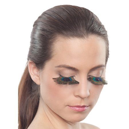 Peacock Eyelashes by Party King LSH17 - Handmade Peacock Costume