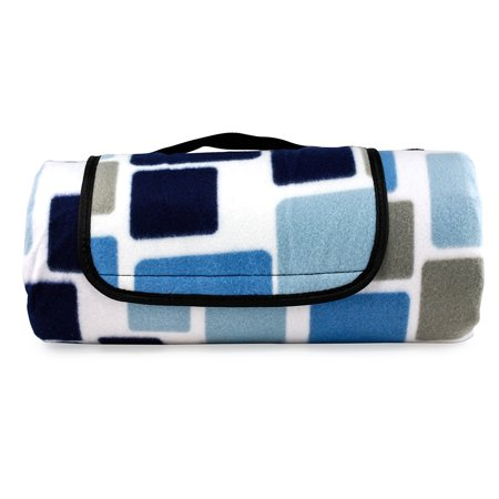 Outdoor Waterproof Picnic Blanket For Foldable Beach Mat Sleeping Pads Camping Hiking Rug - Mix Blue (Picnic Mats)