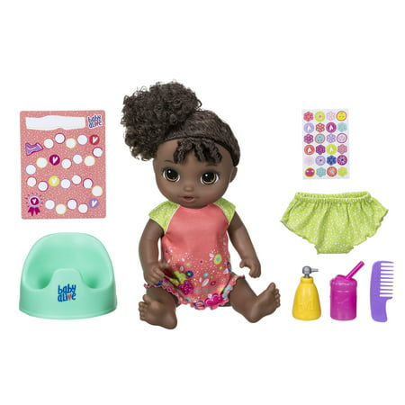 Baby Alive Potty Dance Baby Doll - Black Curly Hair