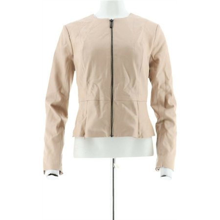 GILI Peplum Faux Leather Zip Front Jacket Women's A286997 - image 1 of 5