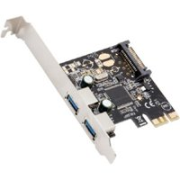 2-Port USB 3.0 PCI-Express Card, x1, Revision 1.0; Etron Chipset EJ168A with Full & Low Profile Brackets