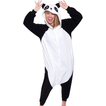 SILVER LILLY Unisex Adult Plush Animal Cosplay Costume Pajamas (Panda)