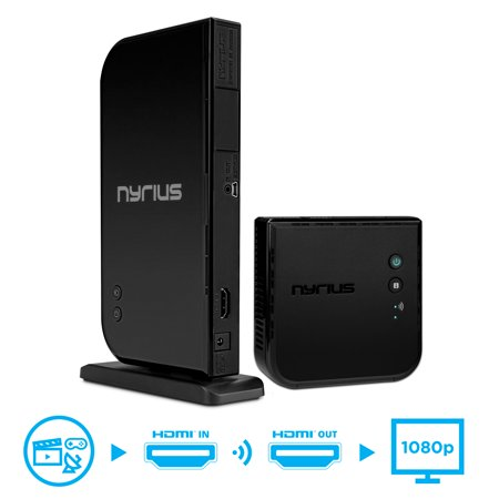 Nyrius ARIES Home HDMI Digital Wireless Transmitter & Receiver for HD 1080p Video Streaming, Cable box, Satellite, Bluray, DVD, PS3, PS4, Laptops, PC (NAVS500) Wireless Video Transmitter