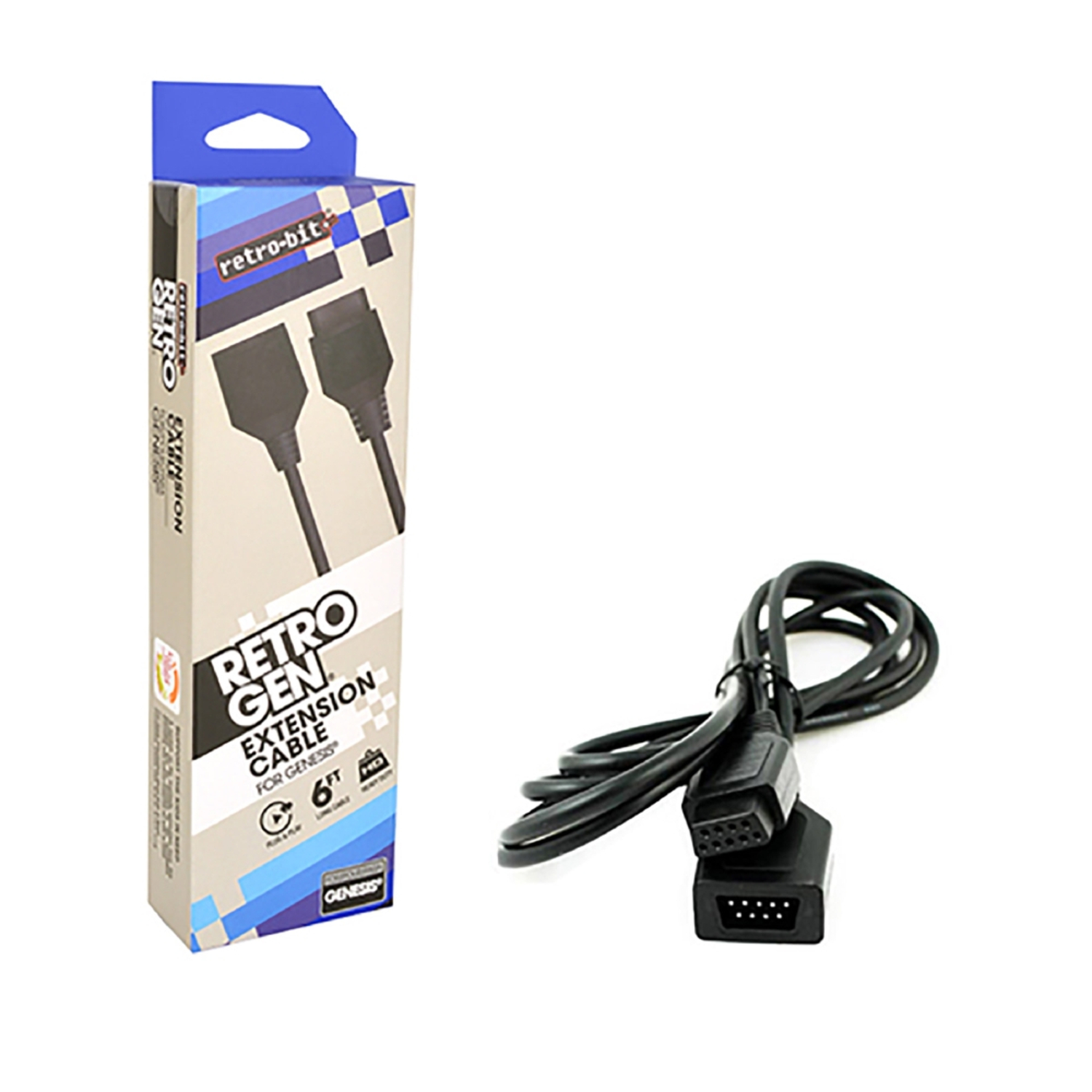 Retro-Bit 6 Feet Extension Cable For Sega Genesis System