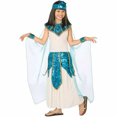 Cleopatra Blue Gold Child Halloween Costume