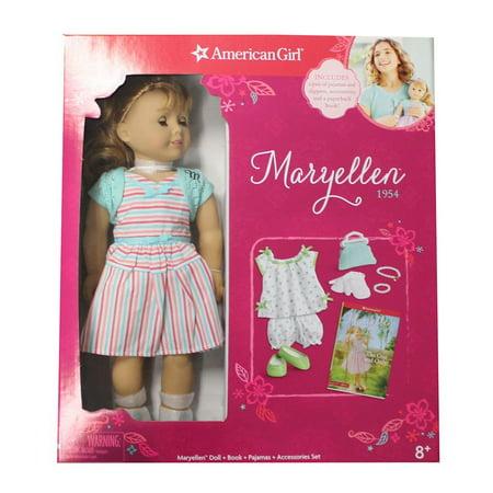 American Girl 18-Inch Maryellen 1954 Doll  + PJ Set +