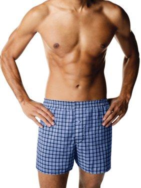 Hanes Men's ComfortBlend Woven Boxer, 4 Pack