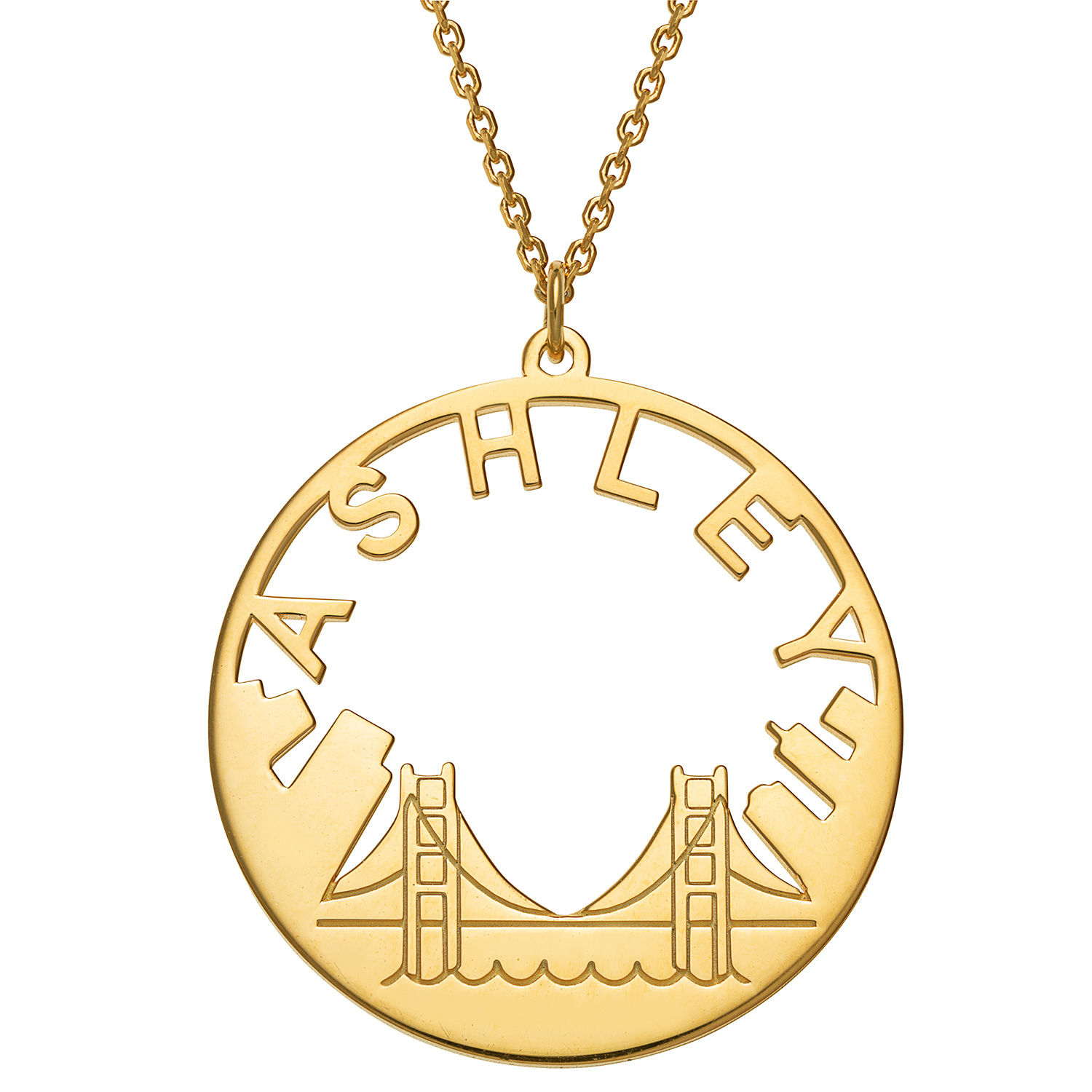 Personalized Planet Jewelry Personalized Cityscape Name