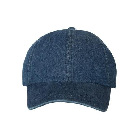 7610 Mega Cap Headwear Washed Denim Cap