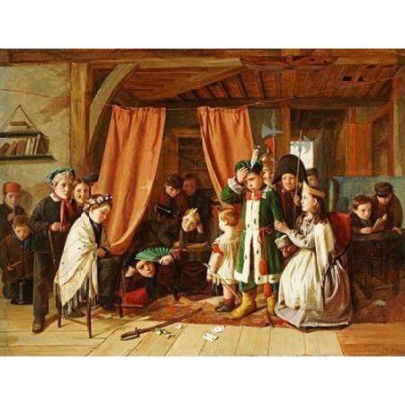 - The Play Scene In Hamlet Poster Print by Charles Hunt