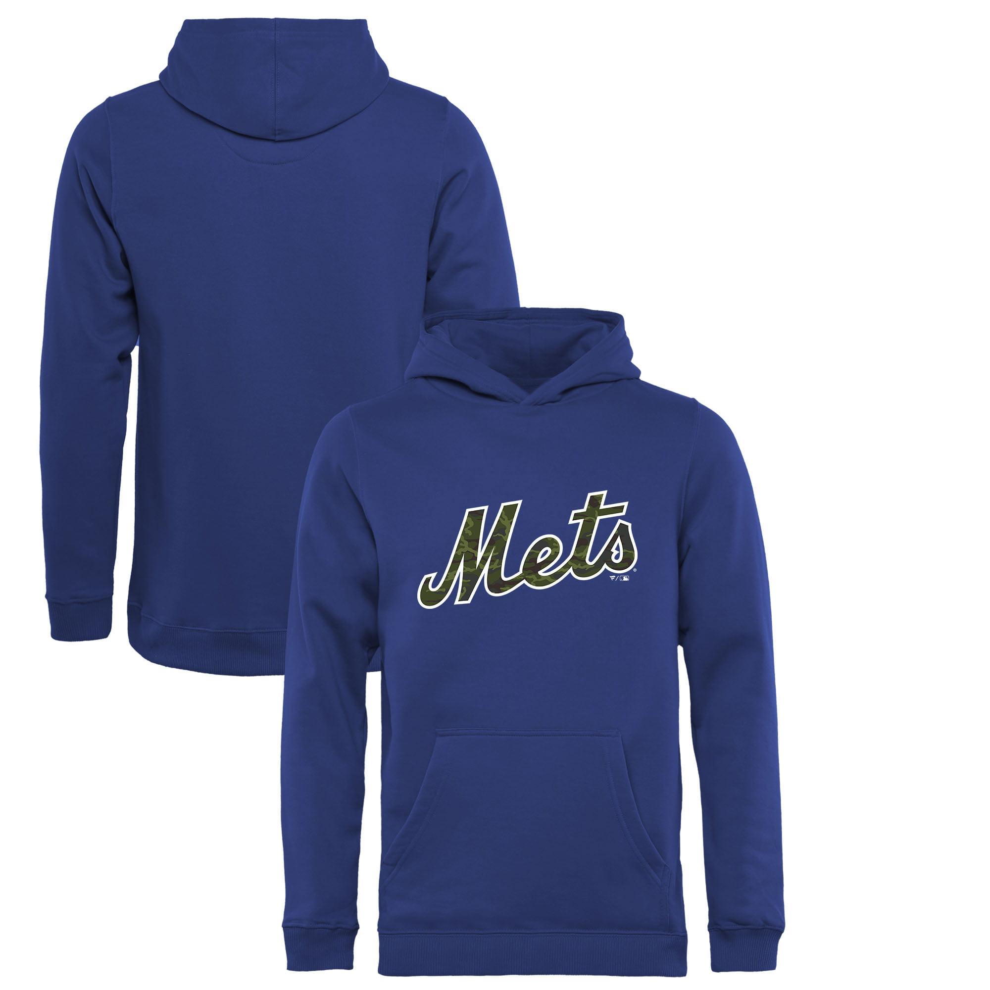 New York Mets Fanatics Branded Youth Memorial Wordmark Pullover Hoodie - Royal
