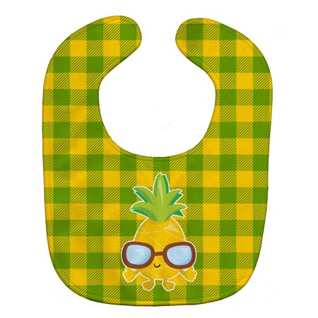 Caroline s Treasures Baby Bib Pineapple with Sunglasses Green and Yell